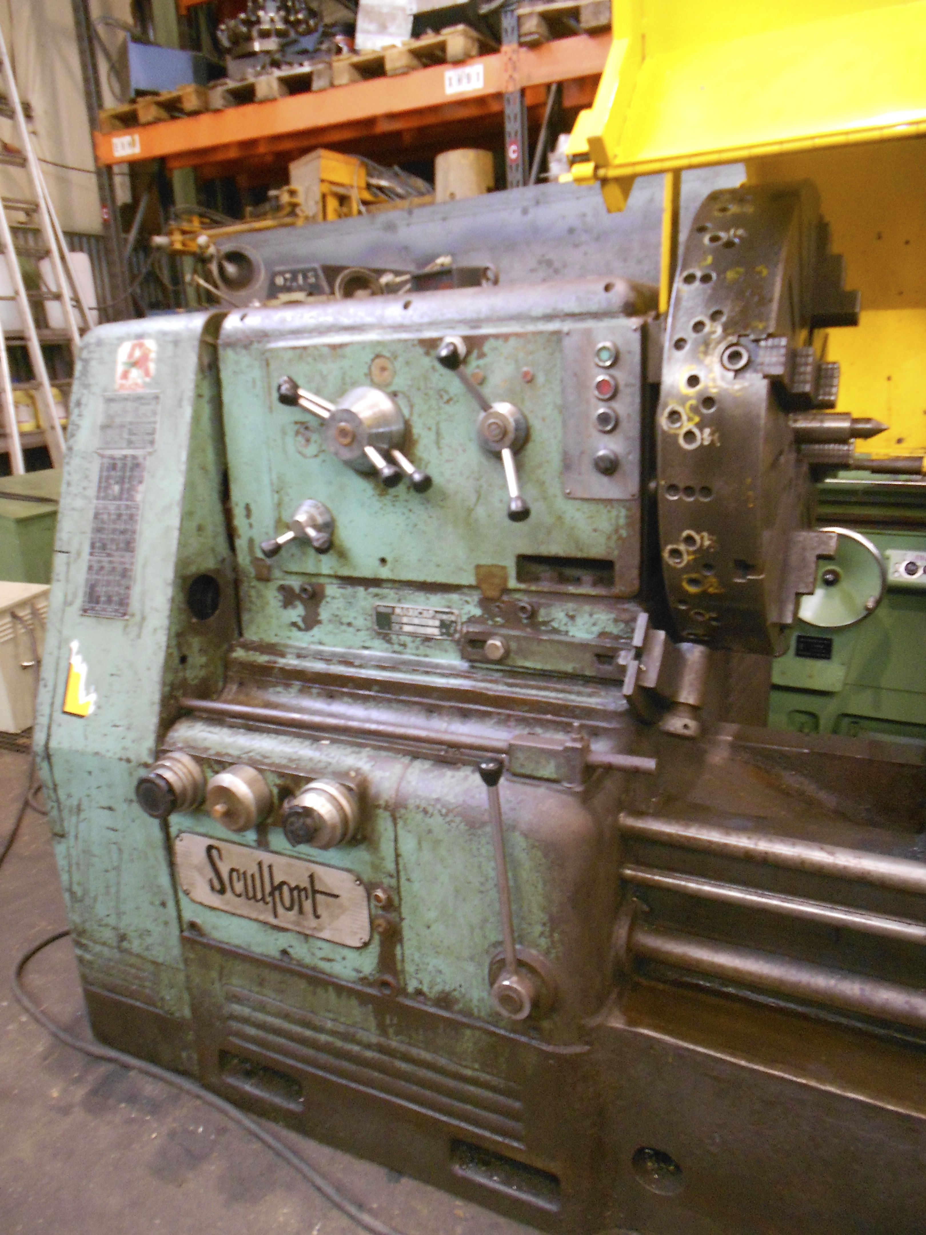Centre Lathe Sculfort Maxicap 380 Distance Between